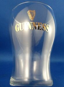 CLEARANCE!! Golden Harp GUINNESS BEER GLASS Collectable Man Cave Bar Breweriana