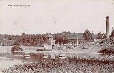 Danville Illinois Water Works Scenic View Antique Postcard (J32314)