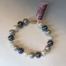 """14k Yellow Gold Freshwater Multi Colored Pearl Bracelet 8-9mm 7 1/2"""" inches"""