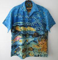 "Vintage Auth Moon Dog Austin Texas Tropical Hawaiian Shirt 48""-122cm  L (1015H)"