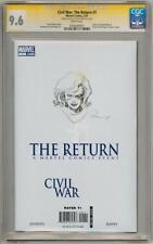 CIVIL WAR RETURN 1 CGC 9.6 SIGNATURE SERIES SIGNED CAPTAIN MARVEL SKETCH B MOVIE