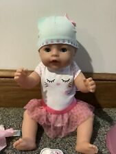 Baby Born Interactive Doll with Blue Eyes and Accessories