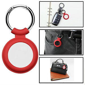 For Apple AirTag Silicone Case Protective Sleeve Cover Keychain AirTags Tracker