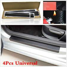 4PCS Kit 3D Anti-kick Scratch Car Door Plate Door Sill Scuff Plate Cars Stickers