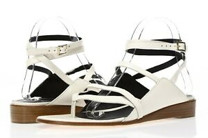 TIBI Womens Carmen White Leather Strappy Flat Flat Sandals Size 40.5 - 231134