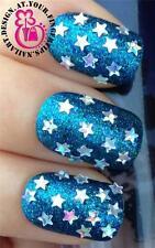 x500 NAIL ART HOLOGRAPHIC STARS SHAPES DECORATIONS ALLOY GLITTER CONFETTI #542