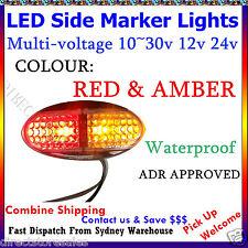 12v 24v Red Amber LED Side Marker Tail Light Caravan Trailer Truck Ute Camper