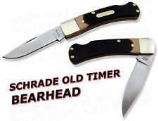 Schrade Old Timer DELRIN Bearhead Lockback Knife 3OT