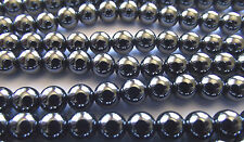 Round Shaped Hematite. 8mm. Approx. 16 Inch Strand. High Quality