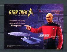 Guyana 2016 MNH Star Trek 50th Anniv The Next Generation 1v S/S Picard Stamps