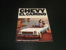 1977 Chevy ECamino full color sales brochure