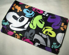 Disney Parks Mickey Mouse Pop Art Multicolor Faces Folding Clutch Wallet - NEW