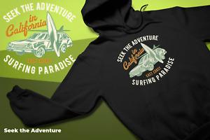 Surf Paradise Hoodie Unisex Mens ladies