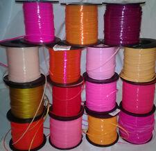 15 Pink Red Orange Mix ~ 5 Yds Each~ 75 Yds Rexlace Gimp Boondoggle Plastic Lace