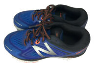 New Balance 860v8 Mens Size 7 Athletic Running Sneakers Blue w/ Orange Trim