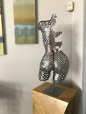 Metal Sculpture Art Abstract Modern Home Decor Nude Torso Holly Lentz