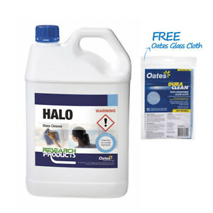 Oates Research Products Halo 5L - Glass Window Cleaner + FREE Glass Cloth 1ea