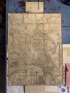 rare early Bamberg emigrant Railroad, canal, and Post route map 1857 of the US