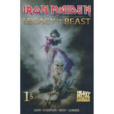 IRON MAIDEN : LEGACY OF THE BEAST - HEAVY METAL COMICS - EDGINTON SIGNED COVER B