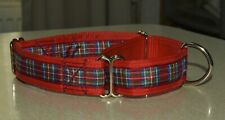 Adjustable Martingale Dog Collar - Royal Stewart Tartan