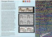 EMISSION COMMUNE (1994) SUISSE et BELGIQUE : hommage à Georges Simenon P2911