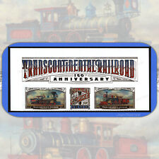 2019  TRANSCONTINENTAL RAILROAD  Header Strip of 3 USPS Forever® MINT Stamps