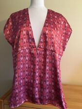 Daisy Fuentes Large Pink Floral Short Sleeve Top Pre Loved