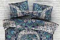 "Elephant Mandala Pillow Sham Indian Cushion Cover Rectangular Boho Throw 28*20"""