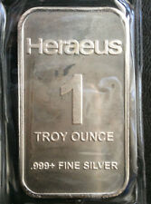 Heraeus Commercial Bullion Silver Art Bar A3643