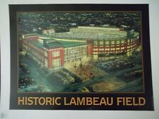 """LOT OF 10. HISTORIC LAMBEAU FIELD POSTER 18"""" X 24"""" HOME OF THE GREEN BAY PACKERS"""