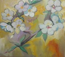 FLORAL FLOWERS IMPRESSIONIST OIL PAINTING SIGNED