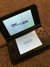 Nintendo New 3DS XL Metallic Black Handheld System - Tested and working