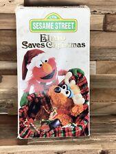 Sesame Street Elmo Saves Christmas VHS Children's Television Network Songs