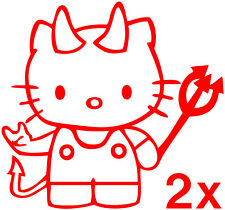 Hello Kitty stickers (2) devil vinyl decal