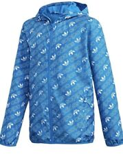 adidas Originals Monogram Full Zip Hooded Blubir/white Boys Sz L