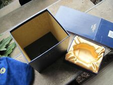 Empty Fancy Gold Silk Lined Crown Royal XR Liquor Box Decoration Storage Sleeve