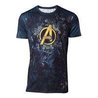 Marvel Hommes Bds Avengers Infini War Équipe Sublimation Imprimé T-Shirt