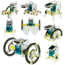 New Creative DIY Assemble 14 In 1 Educational Solar Transformers Robot Kit Toy