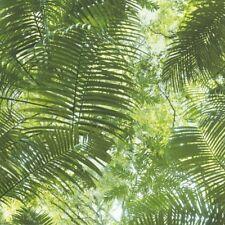 Jungle Leaf Palm Tree Wallpaper Tropical Forest Green Luxury Modern Vinyl P+S