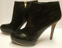 Vince Camuto Shoes Women's Size 9.5 B Super Soft Black Leather Ankle Heel