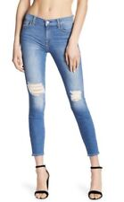 NWT 7 FOR ALL MANKIND Sz 25 THE ANKLE GWENEVERE SKINNY BLUE DESTROY $219