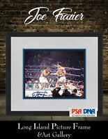 Joe Frazier Signed 8x10 Photo with Muhammad Ali Newly Custom Framed PSA DNA