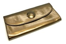 HOBO INTERNATIONAL Envelope Wristlet Clutch Bronze Patent Leather