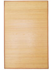 5u0027 x 8u0027 natural bamboo slat area rug floor carpet mat w backing indoor outdoor