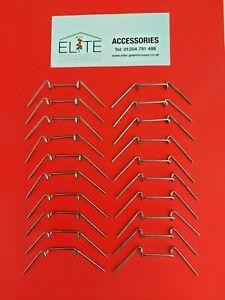 GENUINE Elite x 20 Greenhouse Stainless Steel W Butterfly Glazing Clips RustFree