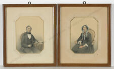 "Hendrik Jakobus Scholten ""Portraits of a married couple"", two drawings, 1852"