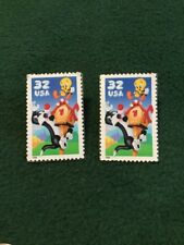 US STAMP MNH 3204 SYLVESTER AND TWEETY Lapel Pins Earrings??