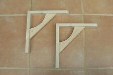 """Wooden Shelf Brackets x 2 (Ideal for 10"""" - 11.5"""" Shelves)"""