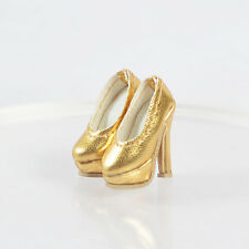 "Sherry Doll Golden Shoes for 12"" Fashion Royalty Poppy Parker,DG,Momoko 4FR8"