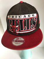 Chicago Bulls New Era 9Fifty Snapback Adjustable Hat NBA Black Red Windy City
